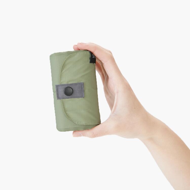 Shupatto Compact verde - Borsa MORI taglia M in polietilene, capienza 15 lt/5 Kg, dimensioni 32x32 cm
