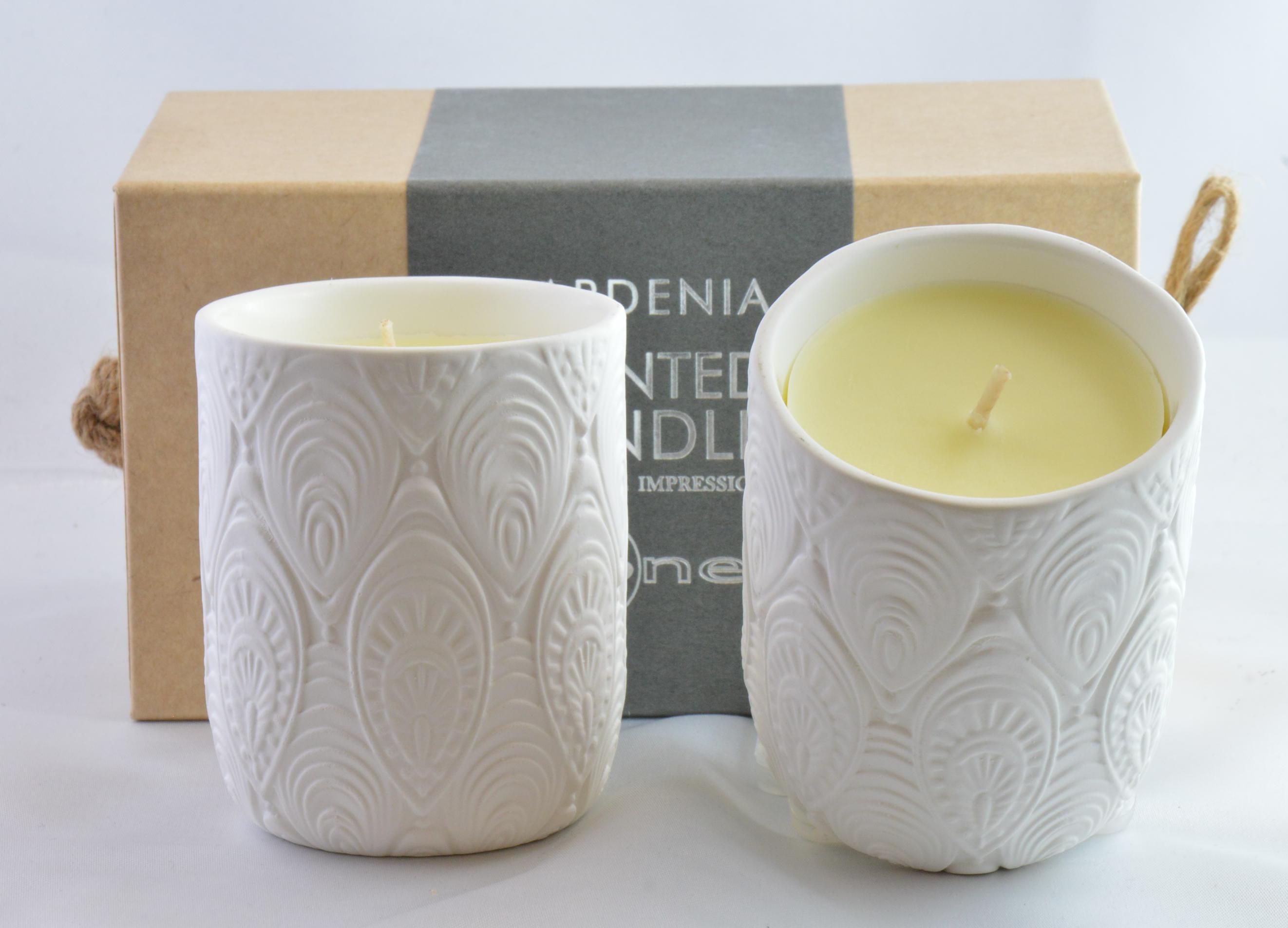 Candela Mascagni One cod. O1322  Gardenia set 2 candele