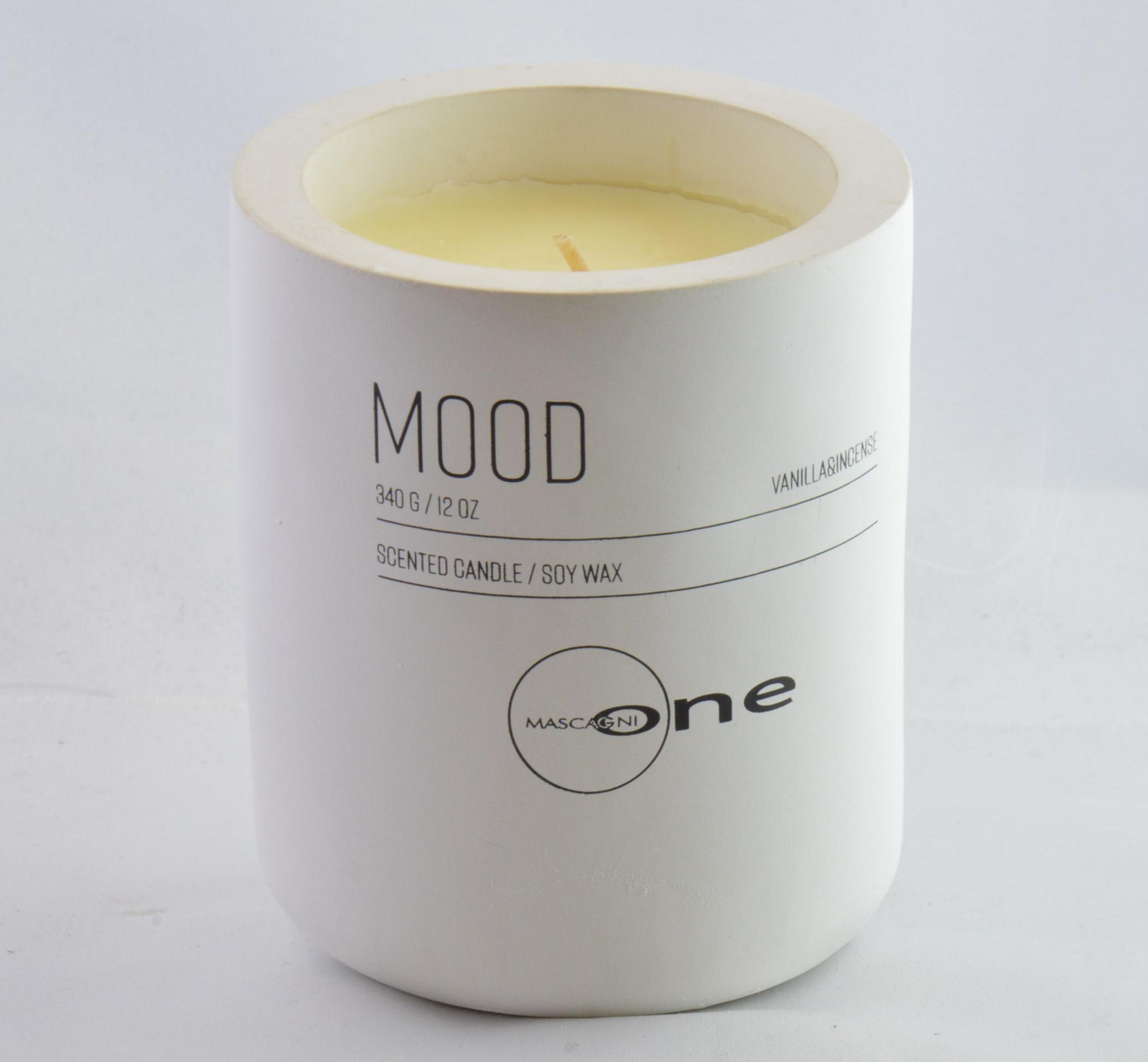 Candela Mascagni One cod. O1320 bianco Mood Vanilla & incense