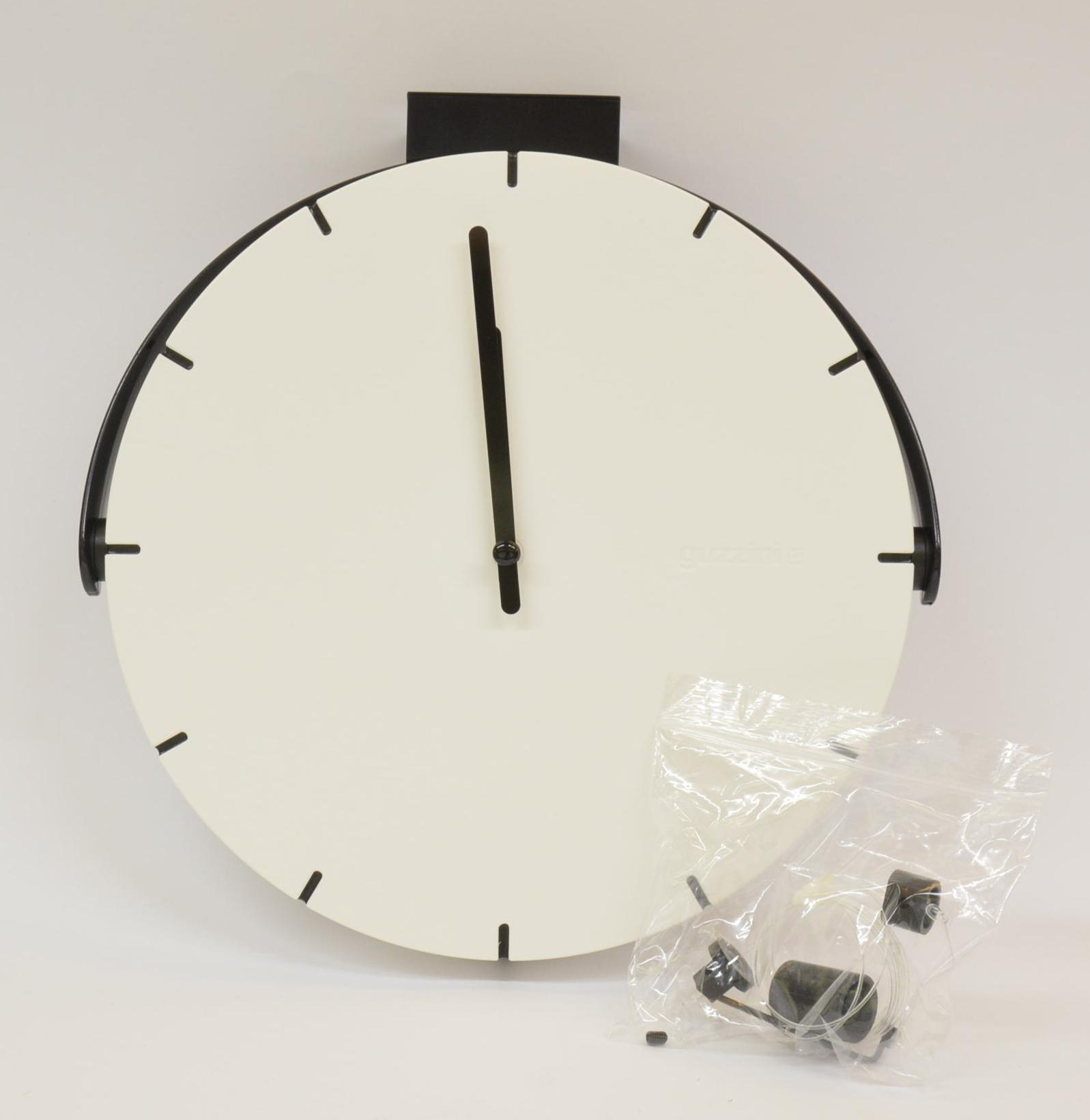 Orologio da parete Guzzini diametro 25 cm art. 16860311 Bianco da appendere con filo orientabile
