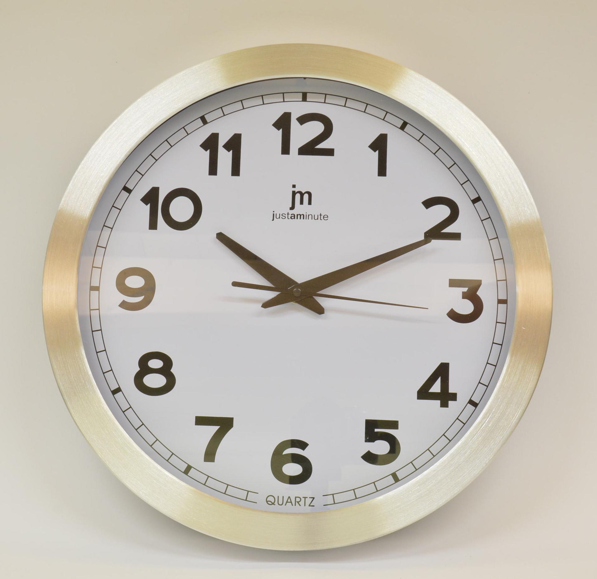 Orologio da parete JM diametro 35 cm art. 14929 Alluminio