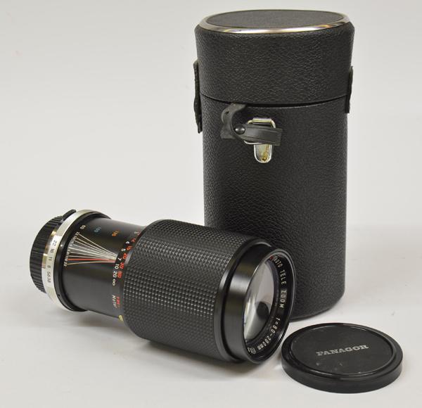 PANAGOR PMC zoom 80-200 mm 1:3.8 x Olympus completo di tappi e custodia
