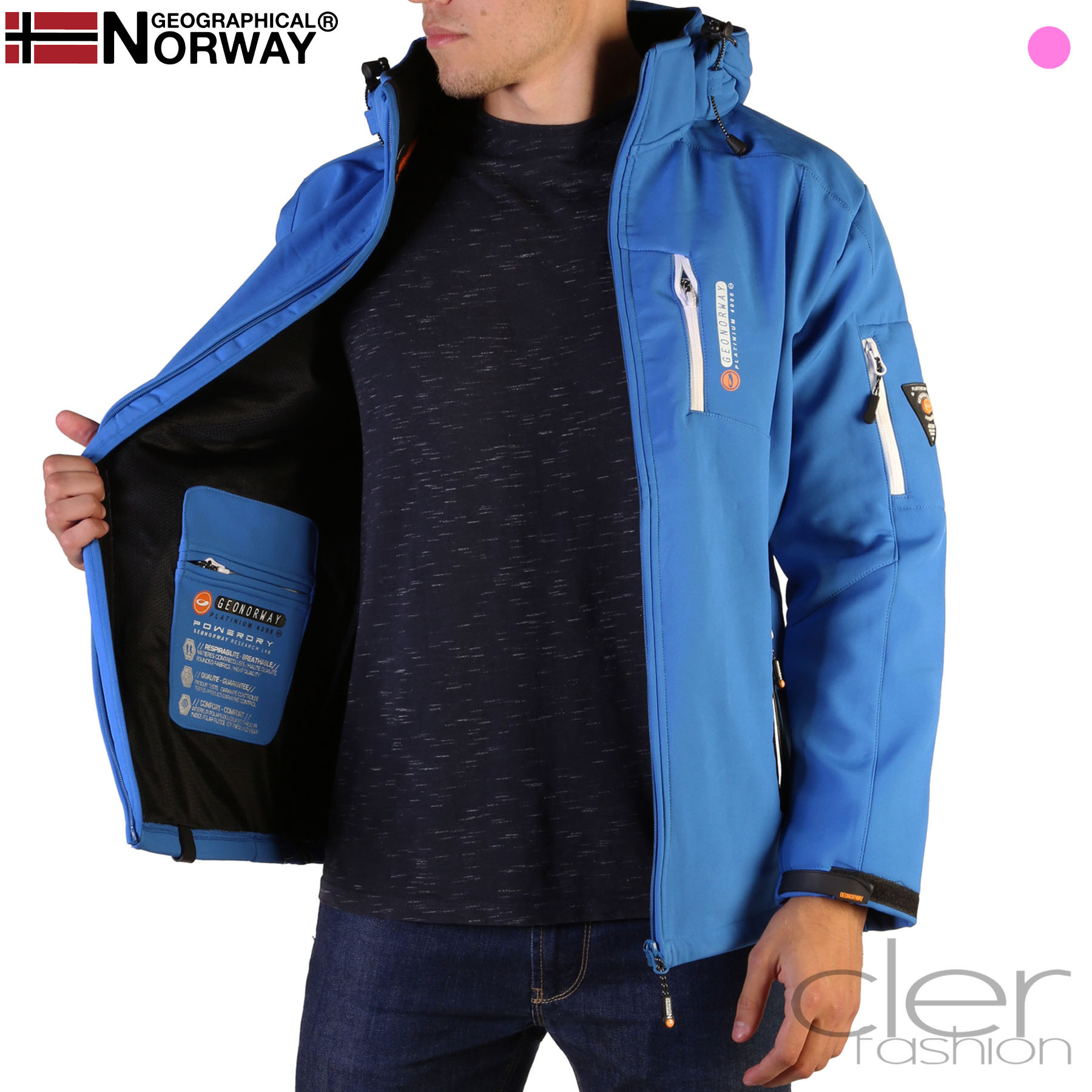 Vestes Geographical Norway Tichri_man Homme Bleu 102552