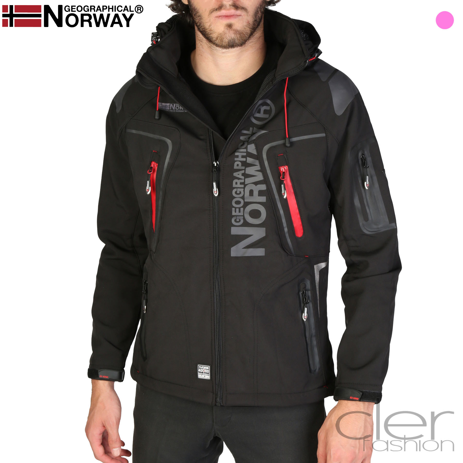 Vestes Geographical Norway Techno_man Homme Noir 93721