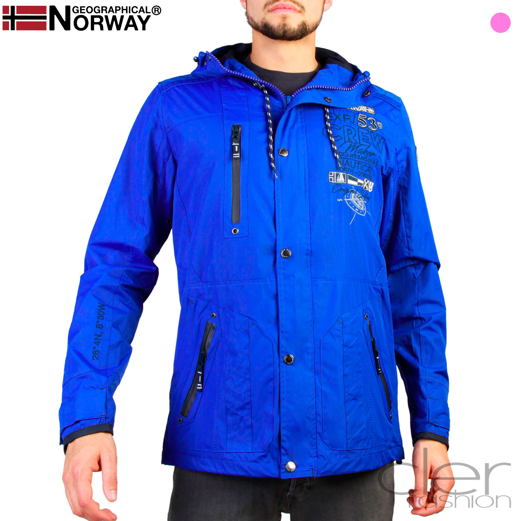 Vestes Geographical Norway Clement_man Homme Bleu 90536