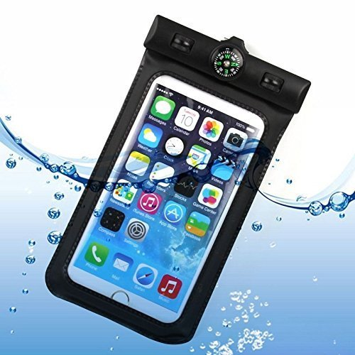 Bag-resistente-all-039-acqua-per-Iphone-5-5s-con-bussola-colore-nero